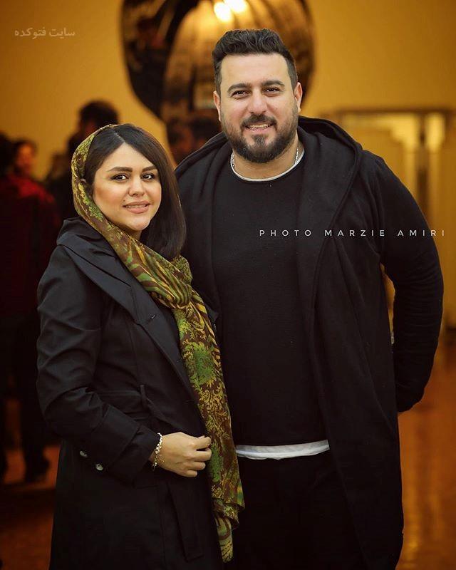 عکس محسن کیایی و همسرشزمستان 96