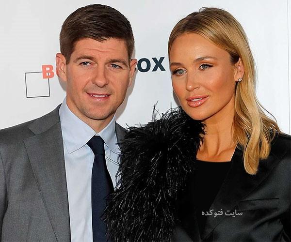 Steven Gerrard و همسرش + خانواده