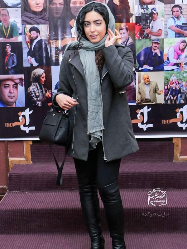 لباس بازیگران زن ایرانی در زمستان 97 ساناز طاری