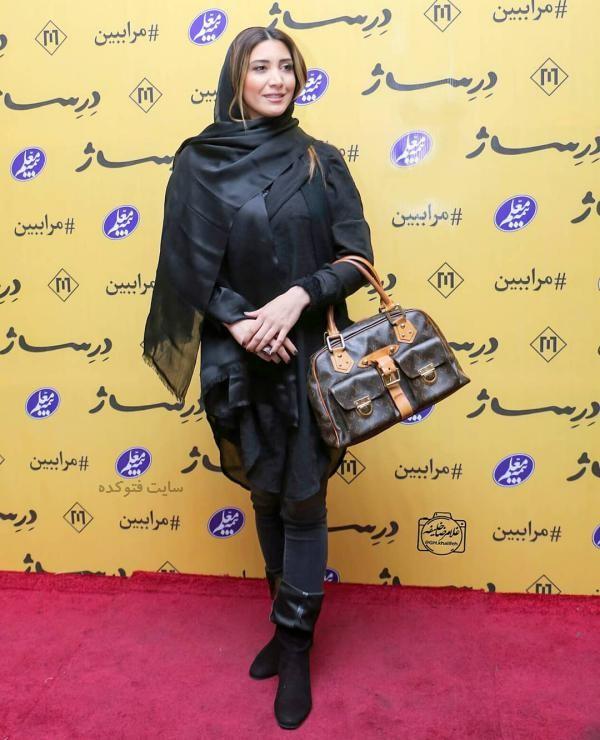 لباس بازیگران زن ایرانی در زمستان 97 نیکی مظفری