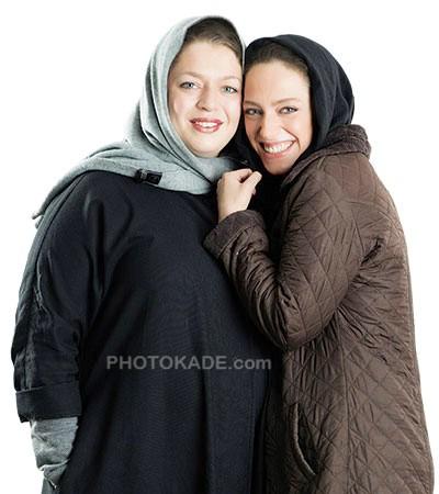 عکس نگین معتضدی و خواهرش طلا