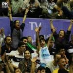 عکس دختران تماشاگر والیبال ایران و آمریکا