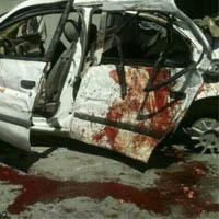 تصادف دانشجویان دانشگاه آزاد در قزوین
