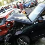 عکس تصادف میلیاردی بنز و بی ام در تهران