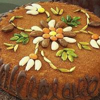 عکس کیک خانگی با تزئین ساده