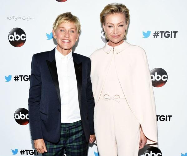 Ellen DeGeneres و همسرش