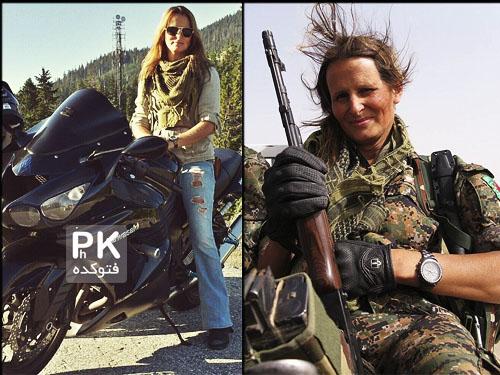 عکس مانکن زن که به جنگ داعش رفت,عکس تایگر سان مانکن و مدل کانادایی در جنگ با داعش,عکس مانکن زن کانادایی در جنگ علیه داعش,tigersun,عکس مدلینگ زن در جنگ داعش