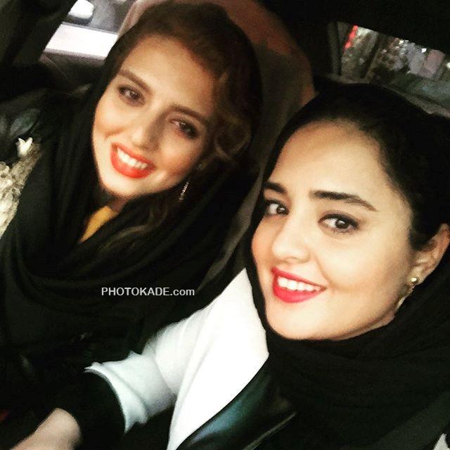 عکس جالب نرگس محمدی و خواهرش