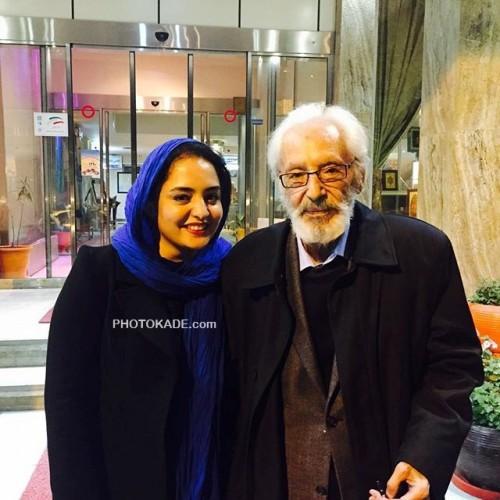عکس نرگس محمدی در کنار استاد جمشید مشایخی