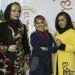 بازیگران و مجریان زن در افتتاحیه مزون لباس
