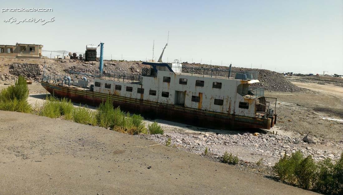 عکس کشتی ها دریاچه ارومیه 1393 , عکس پل میان گذر ارومیه,عکس میان گذر کلانتری 2014