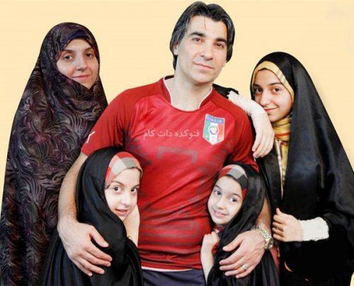 عکس خانوادگی وحید شمسایی , همسر وحید شمسایی , وحید شمسایی و همسرش