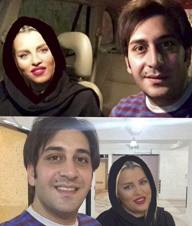 وحید شیخ زاده و همسرش شیما صاحب جمعی