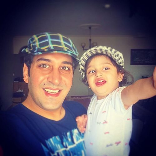 وحید شیخ زاده و دخترش سایمان