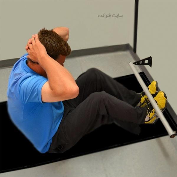 ورزش کرانچ یا دراز نشست شکم