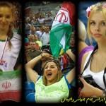عکس تماشاگران زن والیبال ایران