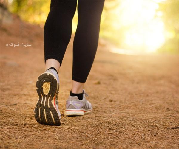 فواید پیاده روی برای لاغری و کاهش وزن با عکس