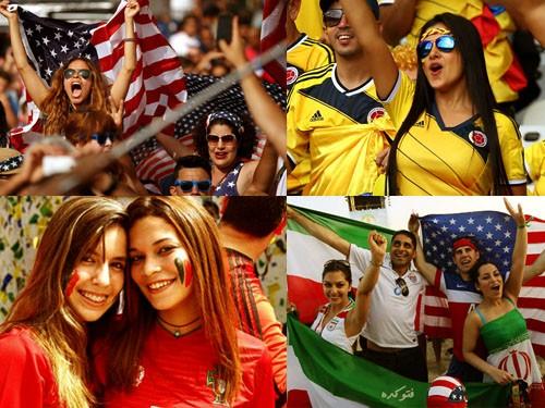 عکس تماشاگران زن جام جهانی 2014