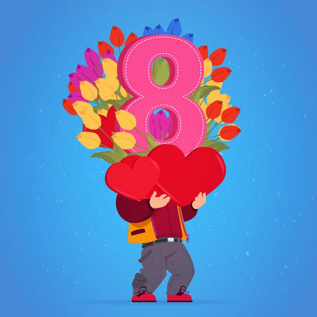 عکس نوشته تبریک روز جهانی زن 8 مارس