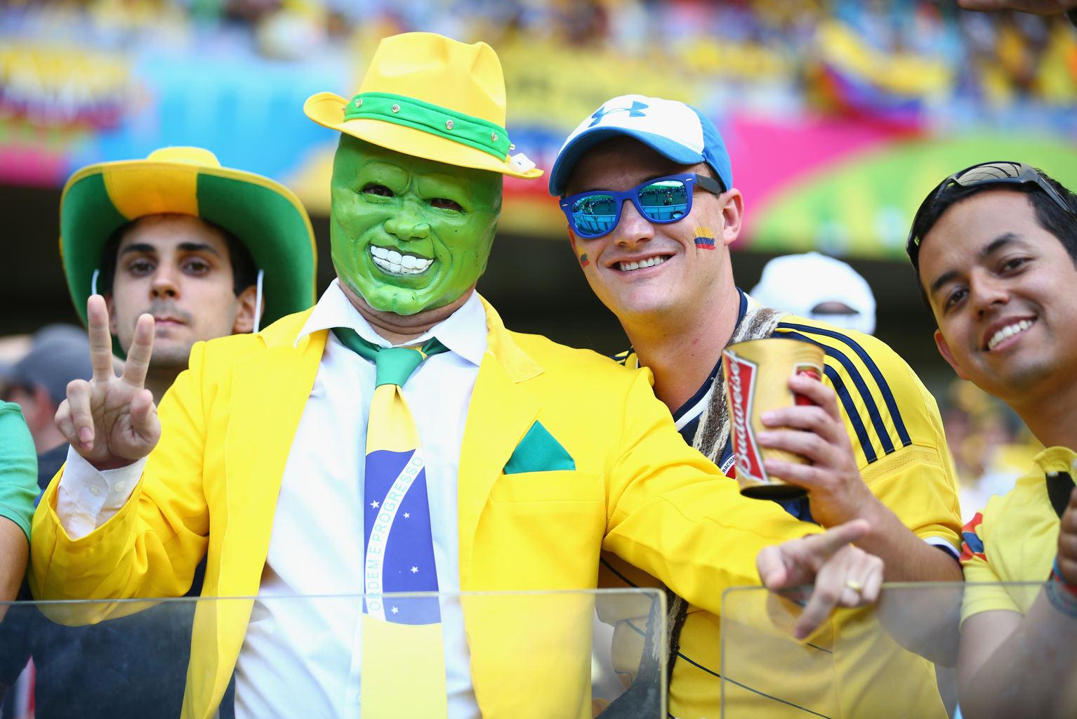 عکس های با مزه تماشاگران جام جهانی 2014,عکس های خنده دار تماشاگران جام جهانی برزیل,عکس های جالب تماشاگران جام جهانی 2014,شکلک های باحال جام جهانی 2014