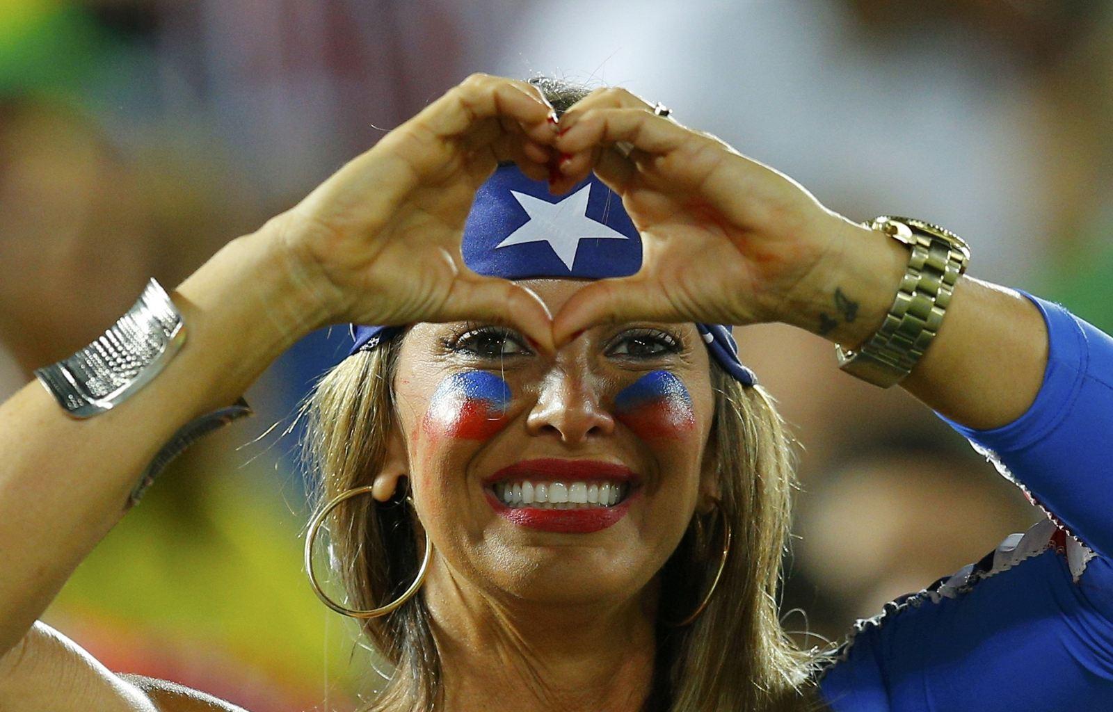 عکس زن زیبای تماشاگر 2014 جام جهانی,عکس های زیبا زنان تماشاگر جام جهانی,عکس های محشر از تماشاگران جام جهانی