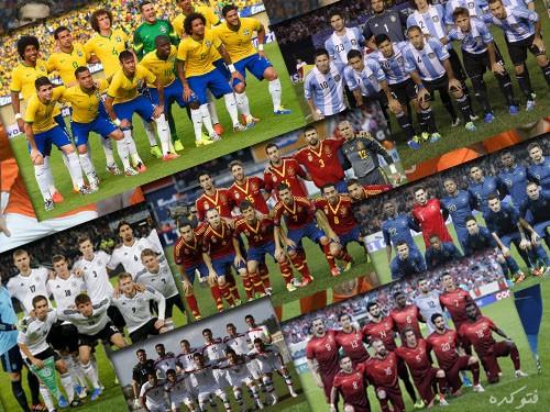 عکس تیم های جام جهانی 2014
