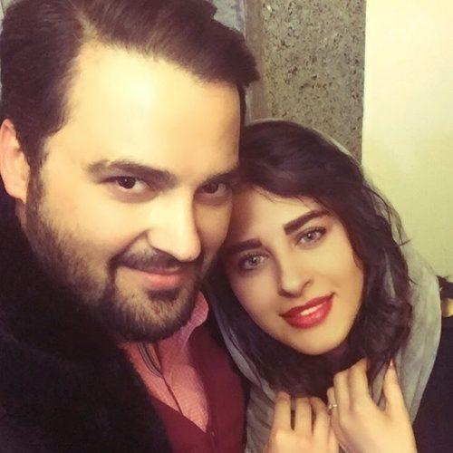 عکس محمد مهدی سلوکی و همسرش در شب یلدا