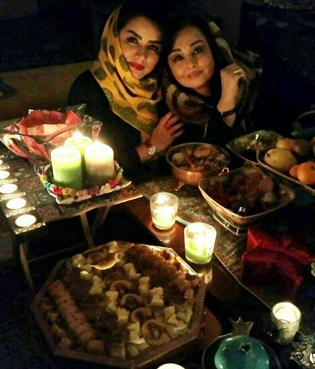 عکس ماهایا پطروسیان و مریم دوستی شب یلدای 96