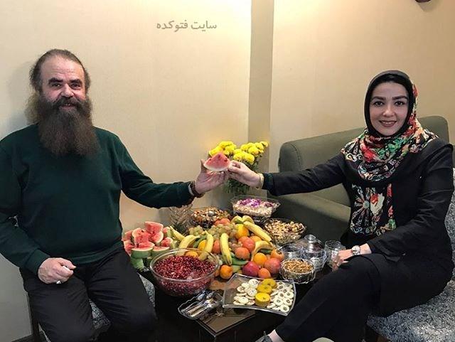 عکس سارا صوفیانی و همسرشامیرحسین شریفی شب یلدای 96