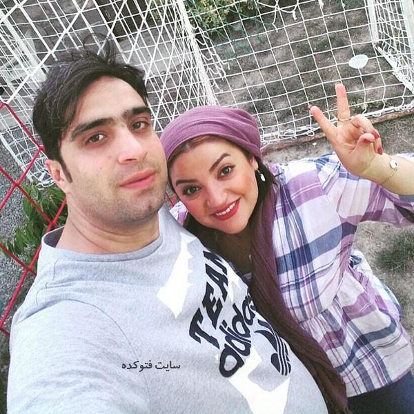 یلدا عباسی زنجانی بازیگر و همسرش مهرداد پژوهش + زندگینامه