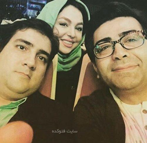 عکس زهرا عاملی و فرزاد حسنی و همسرش