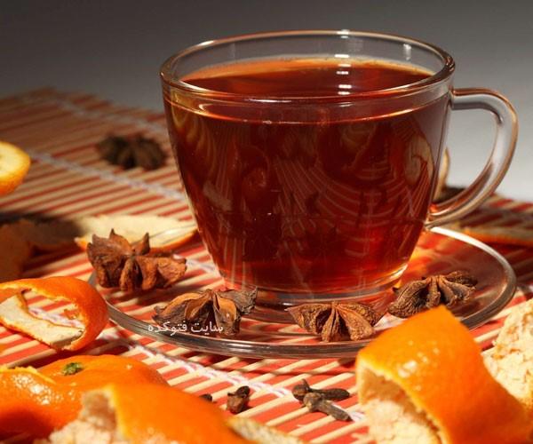 چای پوست پرتغال از نوشیدنی داغ برای زمستان