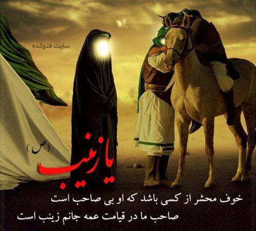 عکس نوشته حضرت زینب در کربلا