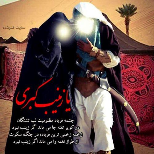 عکس حضرت زینب و امام حسین در کربلا