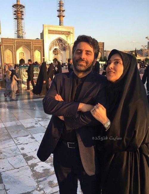 بیوگرافی ژیلا صادقی و همسرش محسن رجبی با عکس دونفره